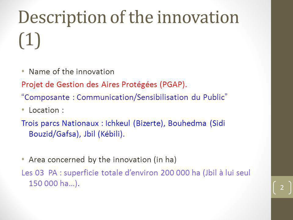 Description of the innovation (1)