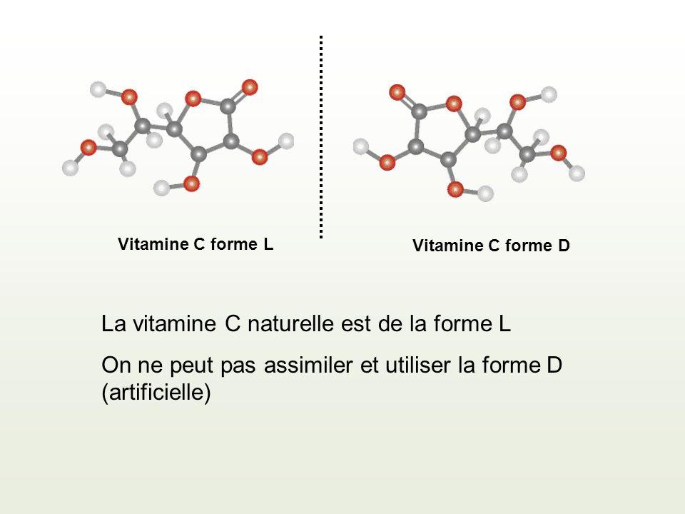 La vitamine C naturelle est de la forme L