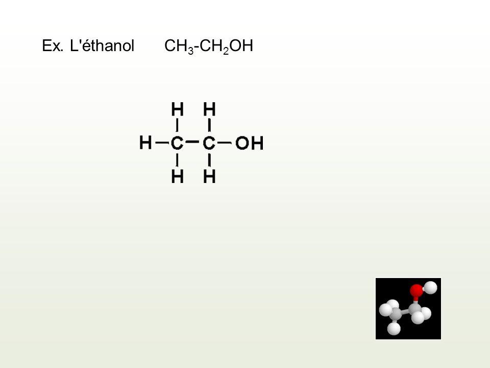Ex. L éthanol CH3-CH2OH