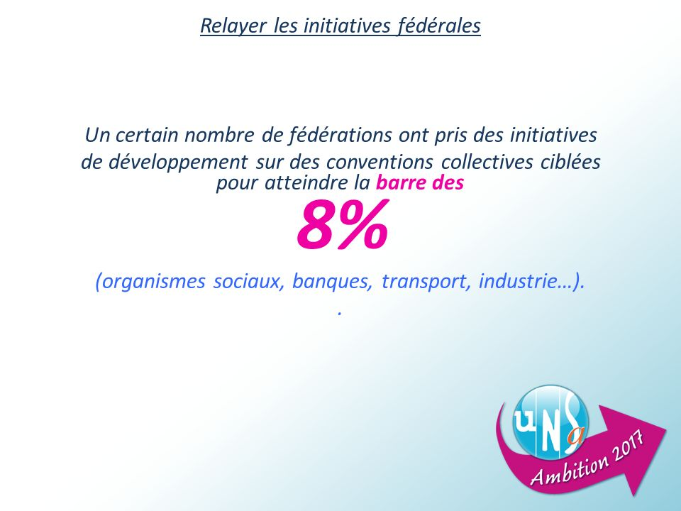 Relayer les initiatives fédérales