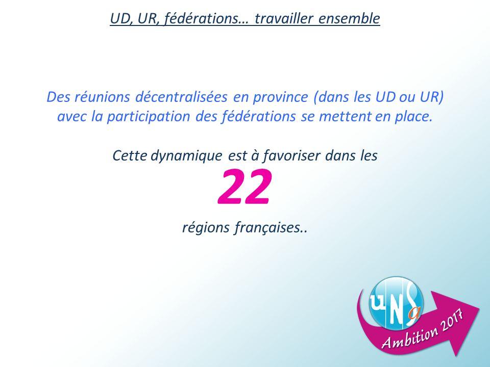 22 UD, UR, fédérations… travailler ensemble