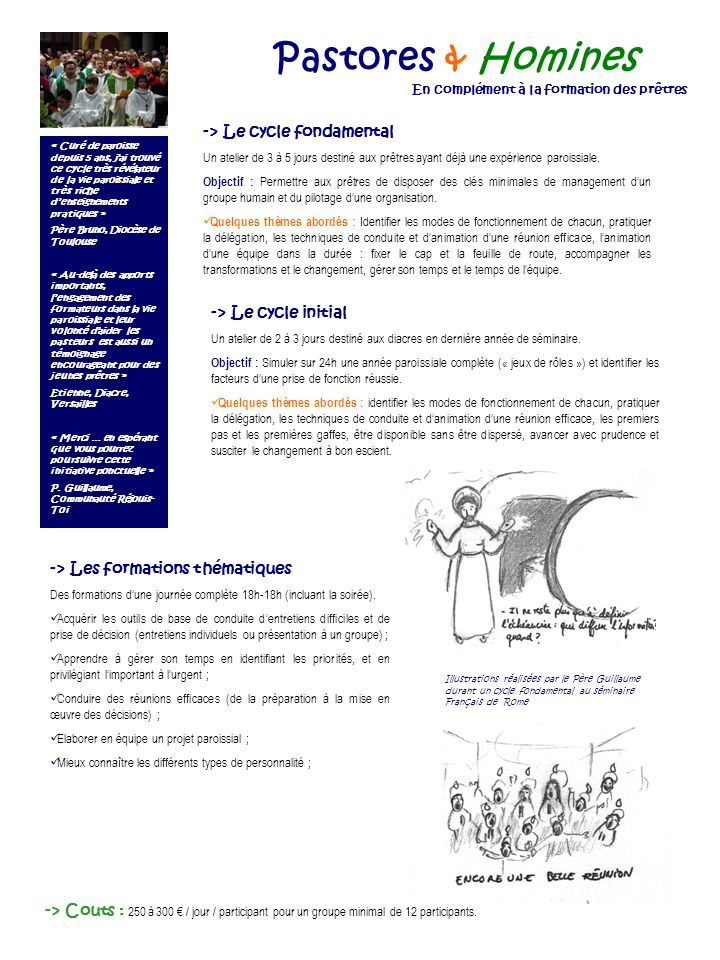 Pastores & Homines -> Le cycle fondamental -> Le cycle initial