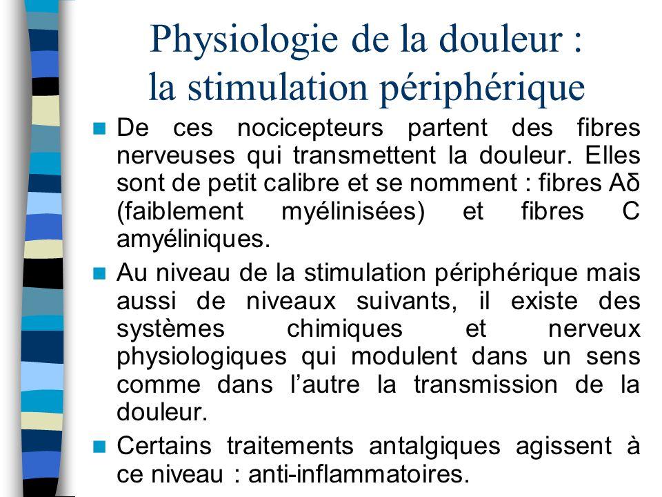 Physiologie de la douleur : la stimulation périphérique