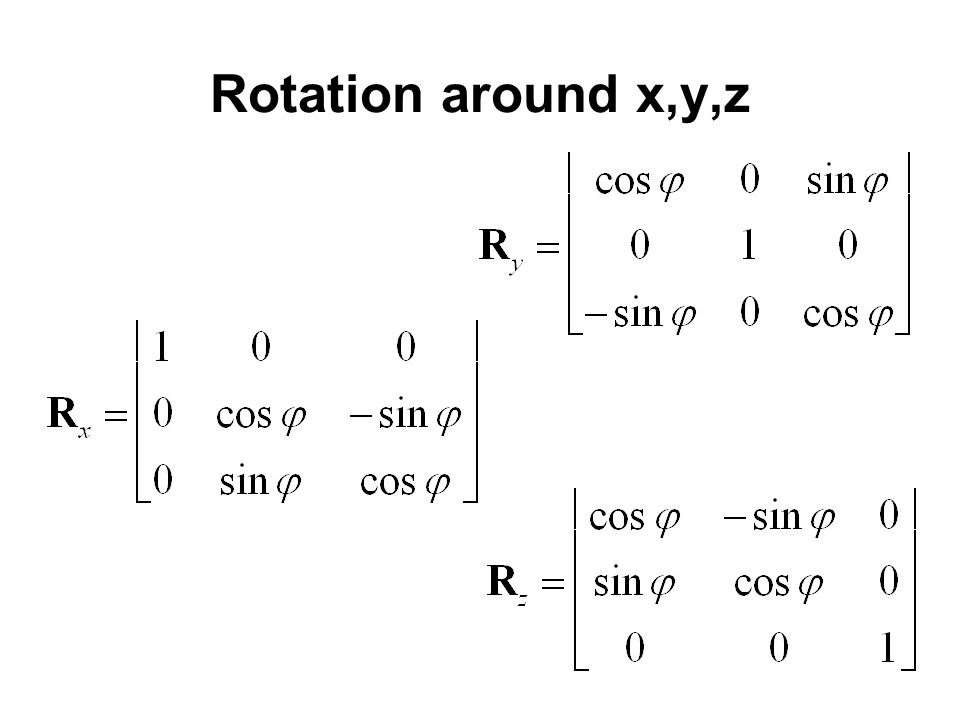 Rotation around x,y,z