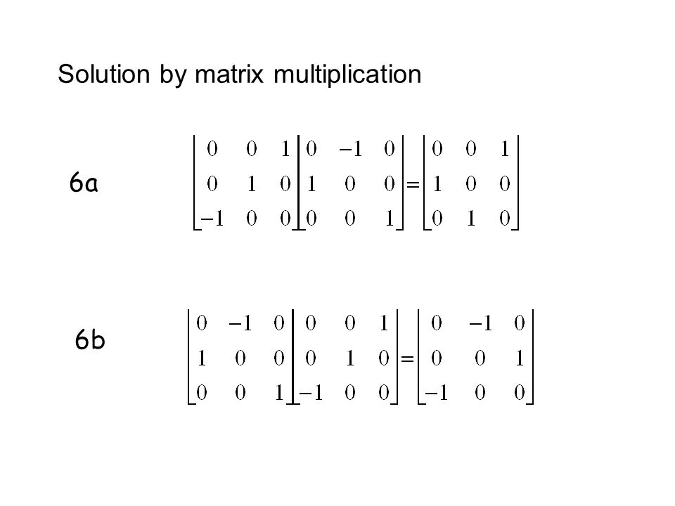 Solution by matrix multiplication