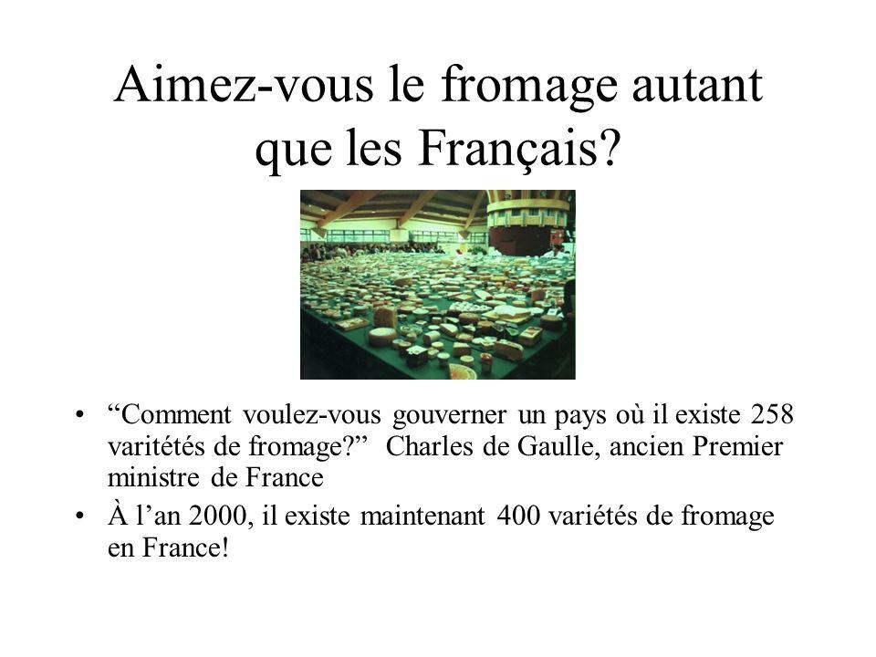 Aimez-vous le fromage autant que les Français