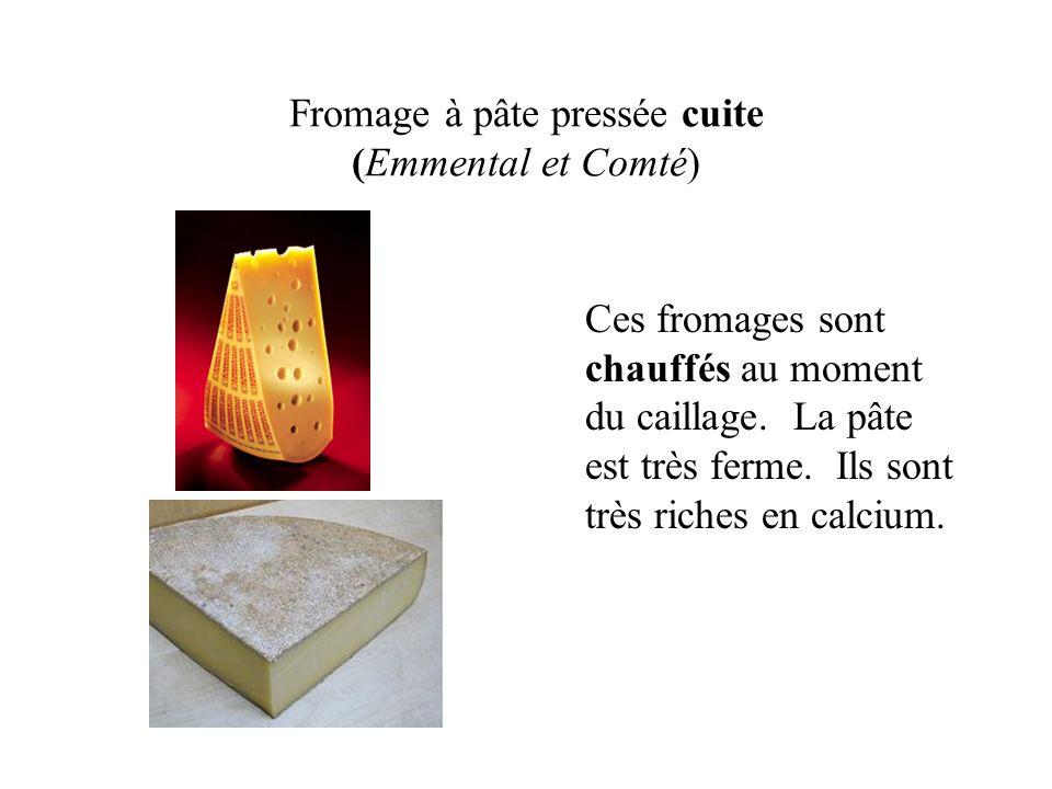 Fromage à pâte pressée cuite (Emmental et Comté)