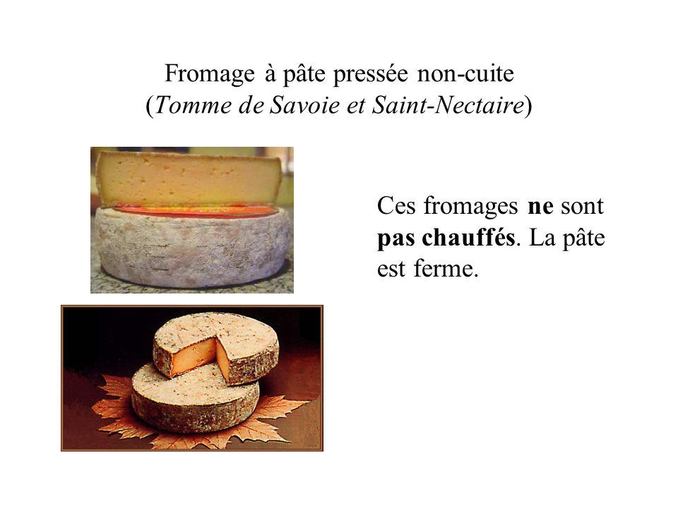 Fromage à pâte pressée non-cuite (Tomme de Savoie et Saint-Nectaire)