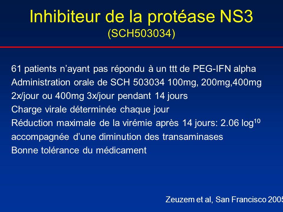 Inhibiteur de la protéase NS3 (SCH503034)