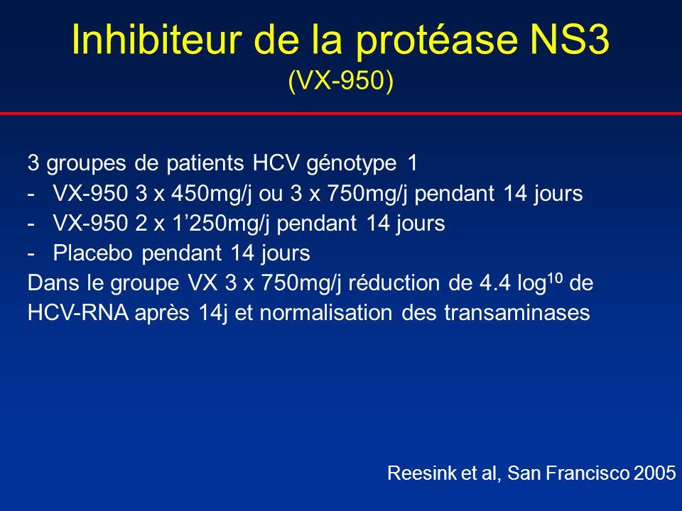Inhibiteur de la protéase NS3 (VX-950)