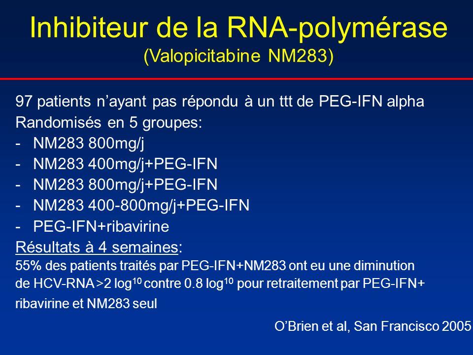 Inhibiteur de la RNA-polymérase (Valopicitabine NM283)