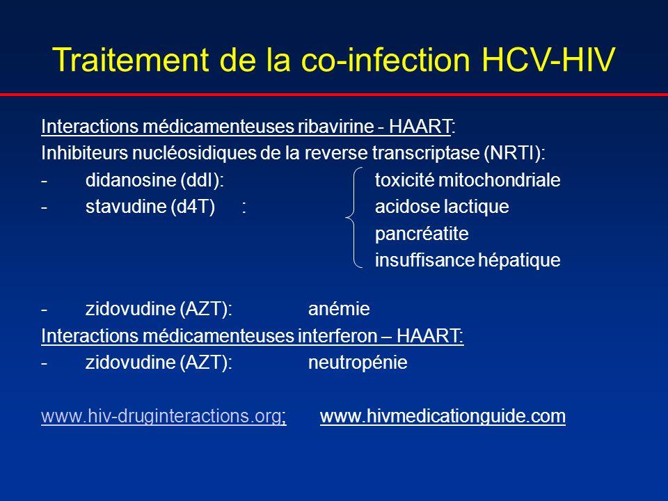 Traitement de la co-infection HCV-HIV