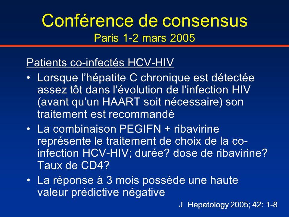 Conférence de consensus Paris 1-2 mars 2005