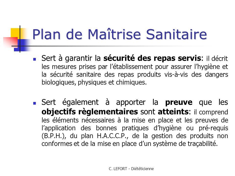Plan de Maîtrise Sanitaire