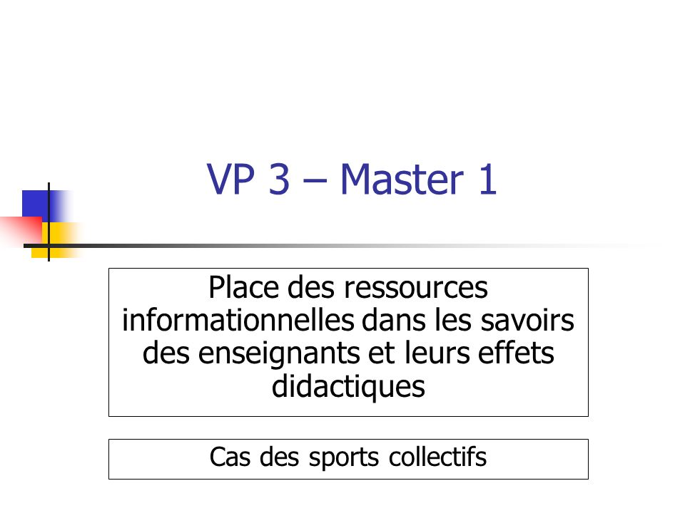 Cas des sports collectifs