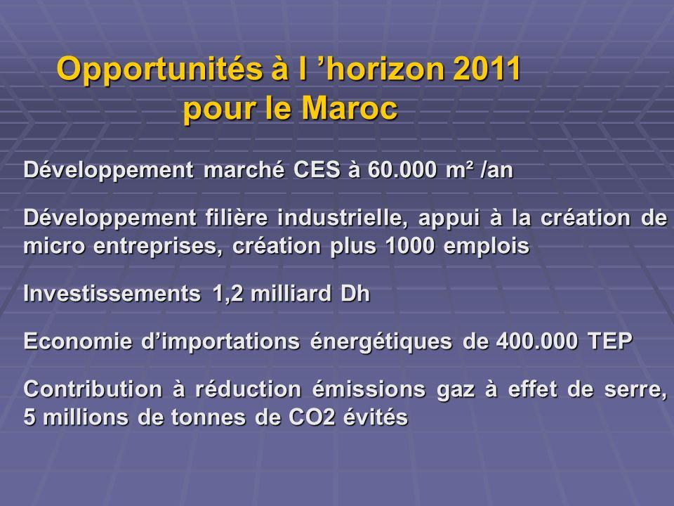 Opportunités à l 'horizon 2011 pour le Maroc