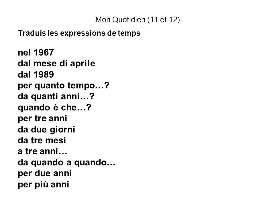 nel 1967 dal mese di aprile dal 1989 per quanto tempo…