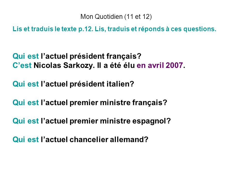 Qui est l'actuel président français