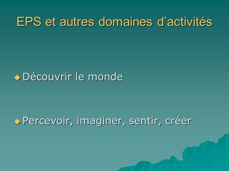 EPS et autres domaines d'activités