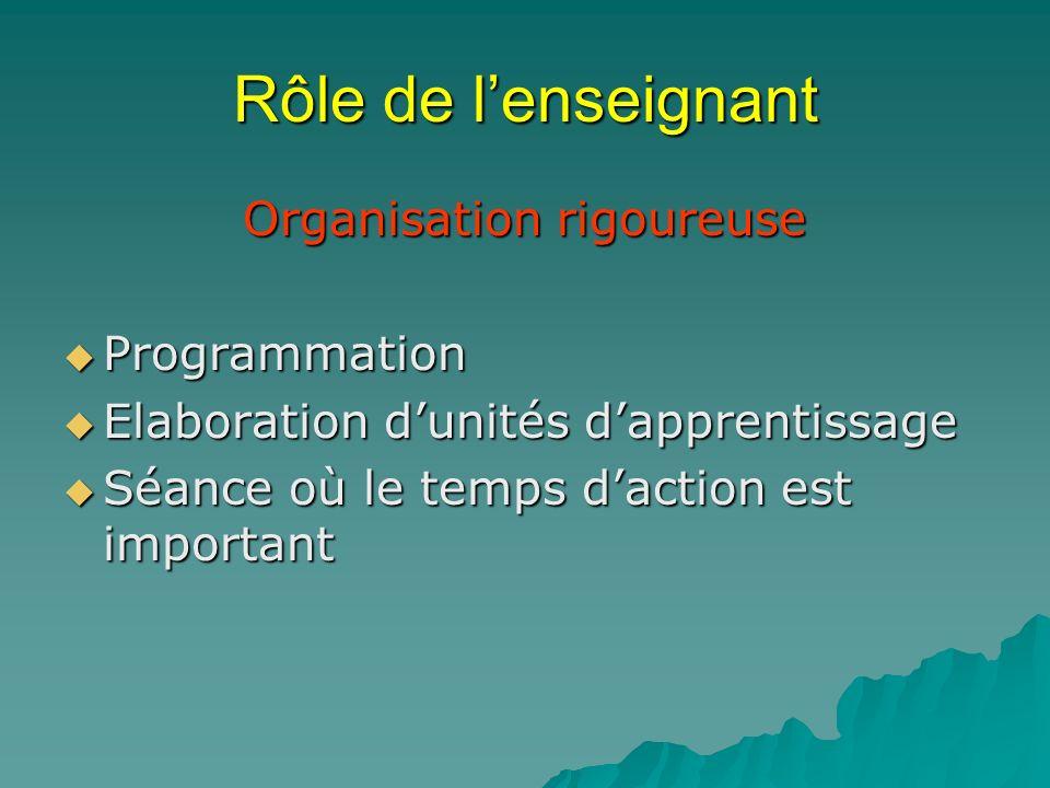 Organisation rigoureuse