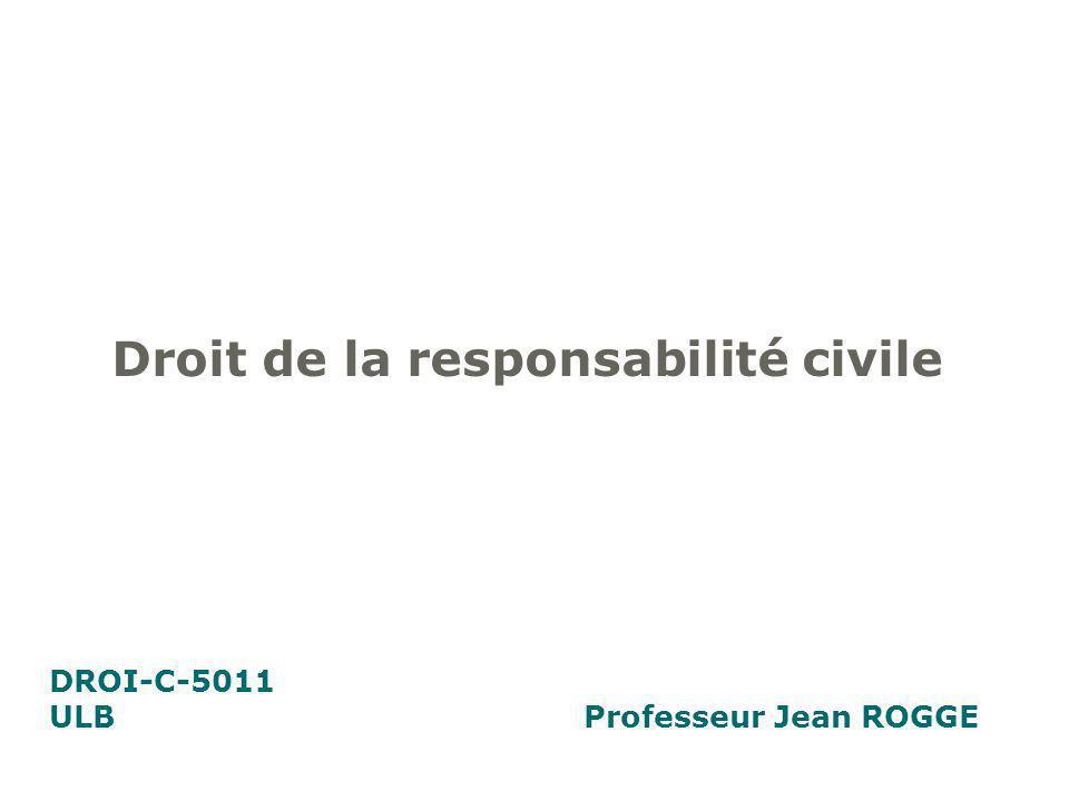 Droit de la responsabilité civile