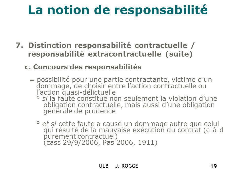 La notion de responsabilité