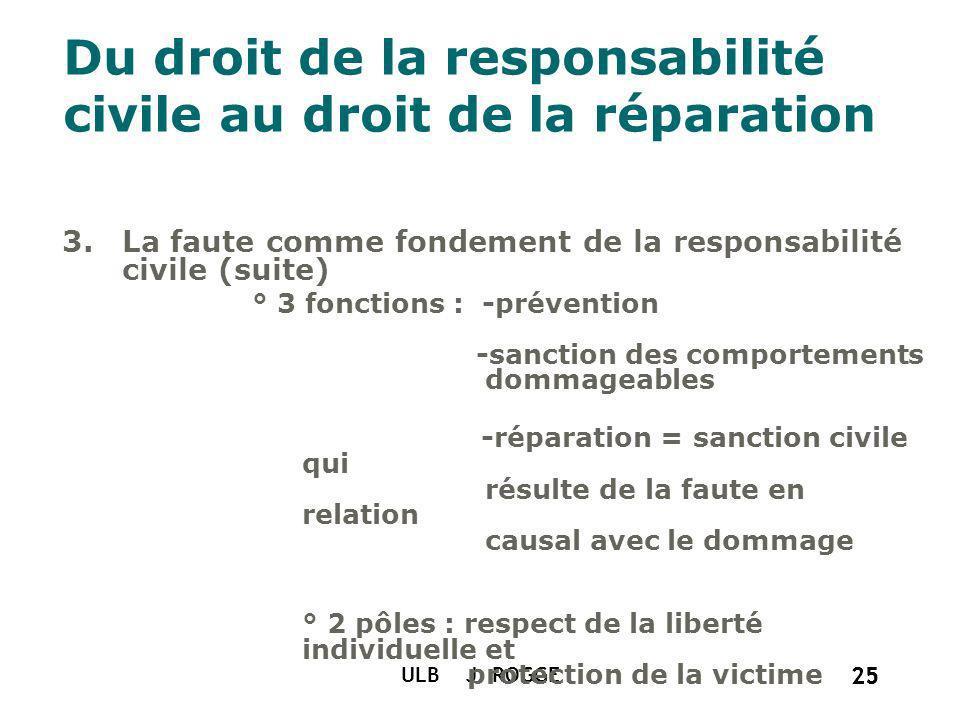 Du droit de la responsabilité civile au droit de la réparation