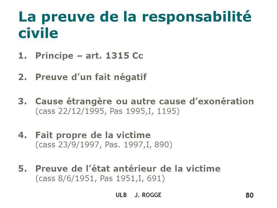 La preuve de la responsabilité civile