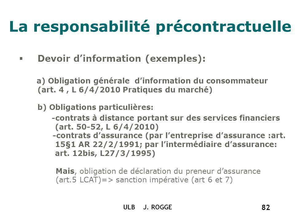La responsabilité précontractuelle