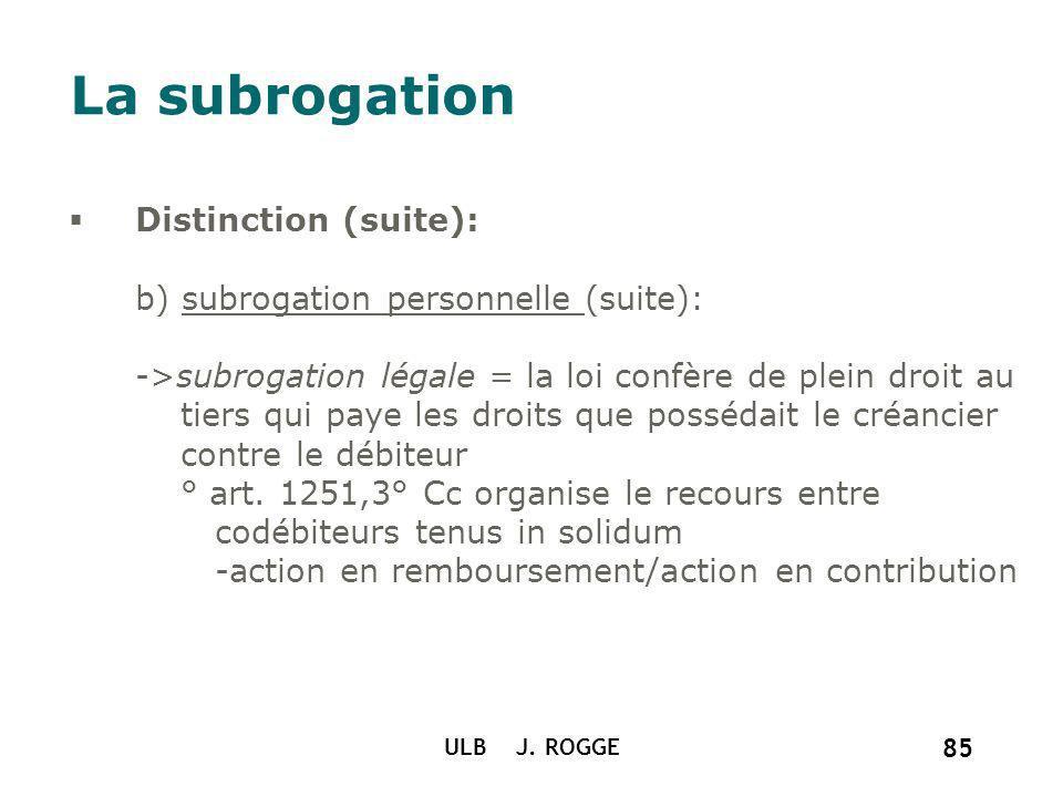 La subrogation