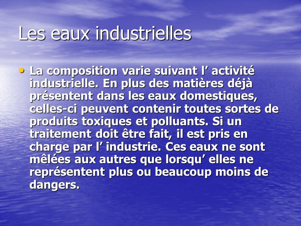 Les eaux industrielles