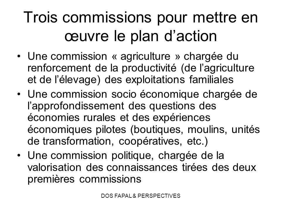 Trois commissions pour mettre en œuvre le plan d'action