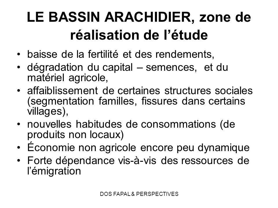 LE BASSIN ARACHIDIER, zone de réalisation de l'étude