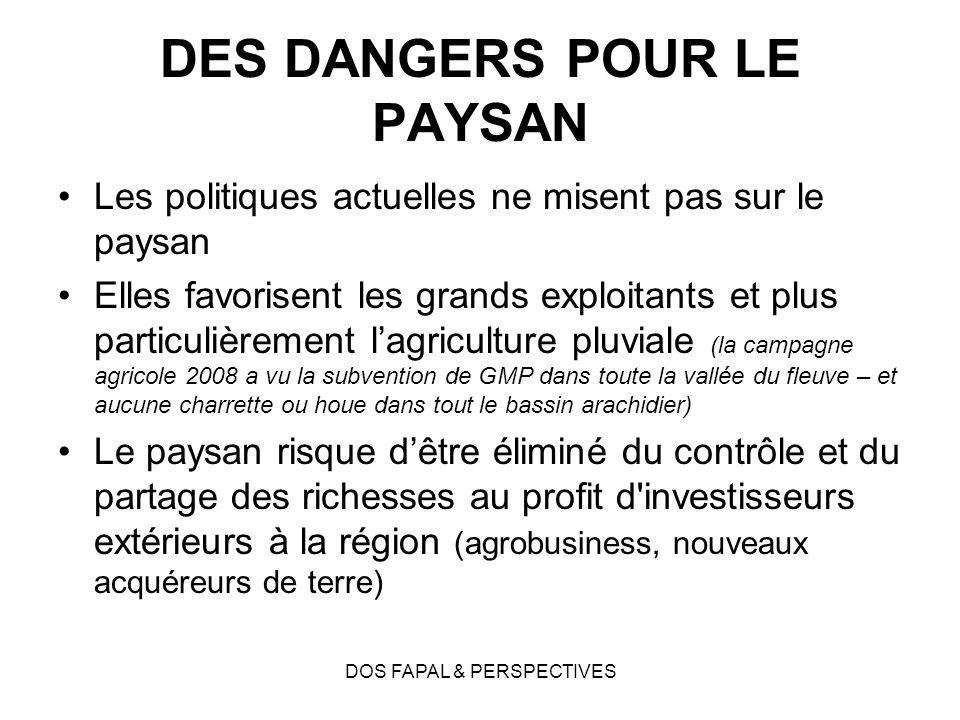 DES DANGERS POUR LE PAYSAN