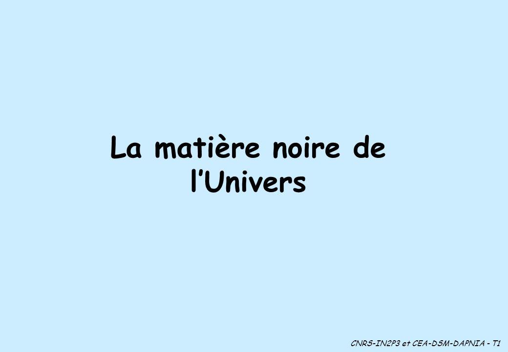 La matière noire de l'Univers