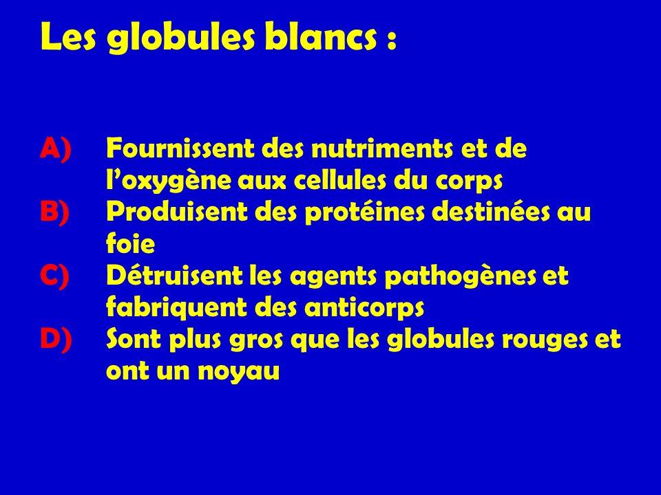 Les globules blancs :