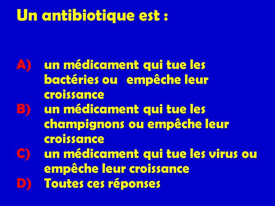 Un antibiotique est :