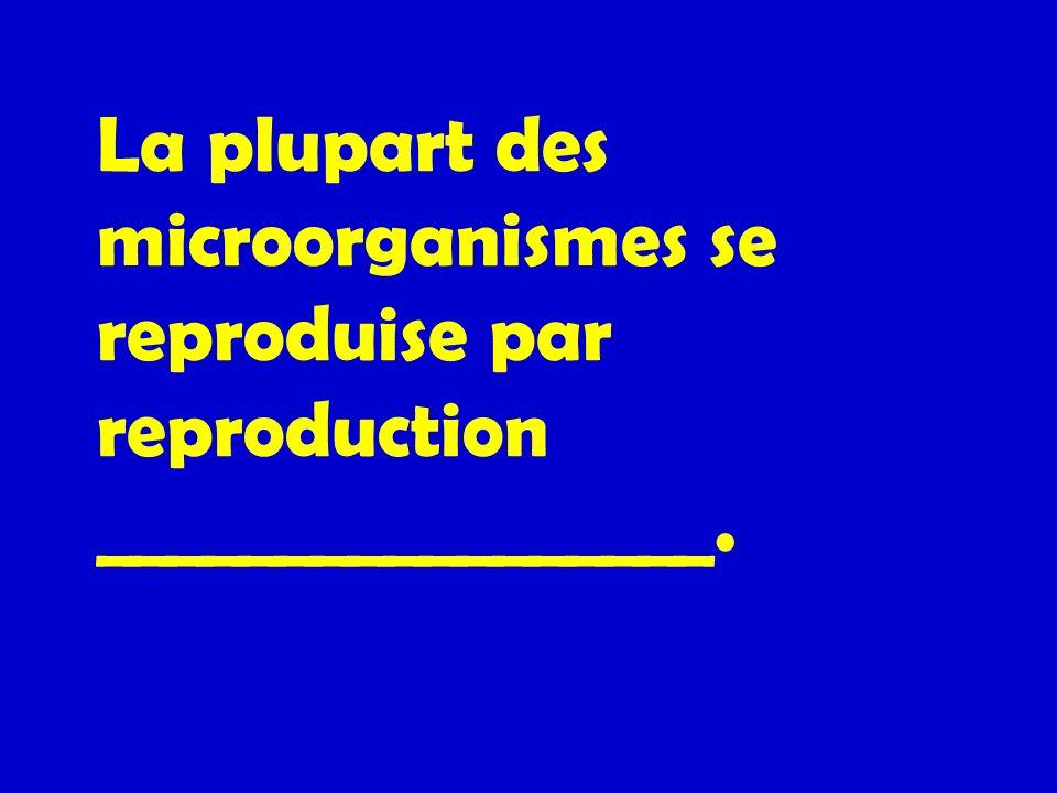 La plupart des microorganismes se reproduise par reproduction _________________.