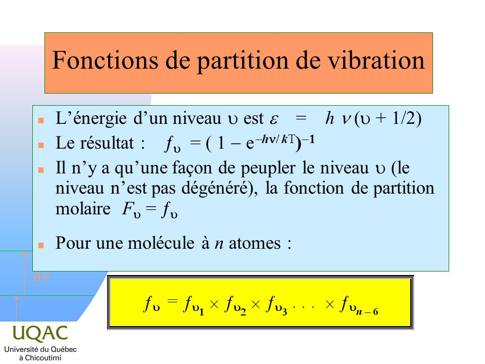 Fonctions de partition de vibration