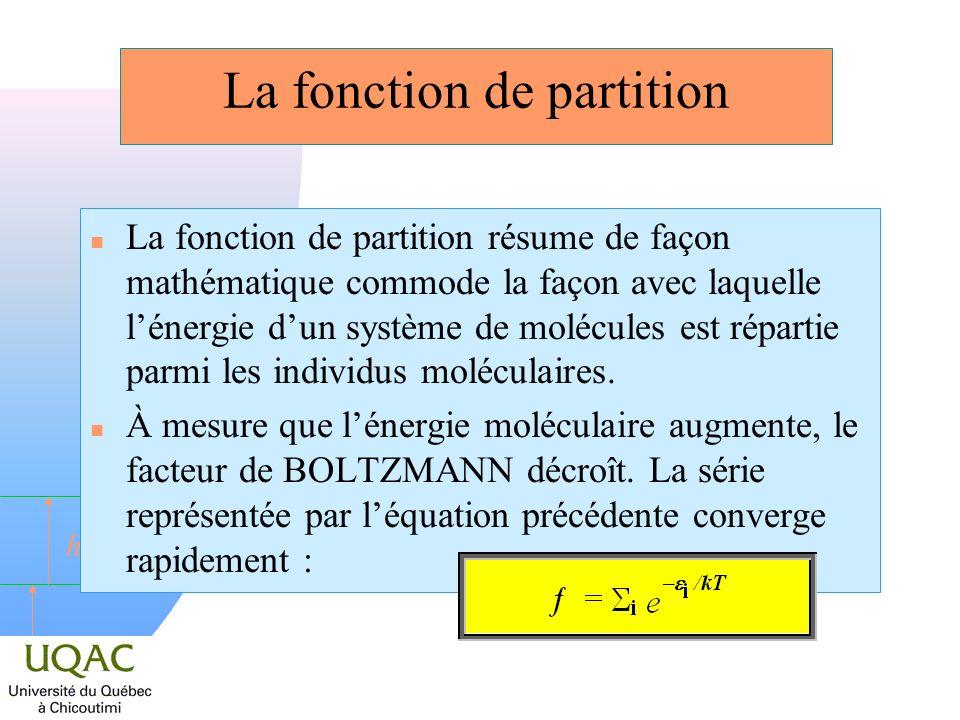 La fonction de partition