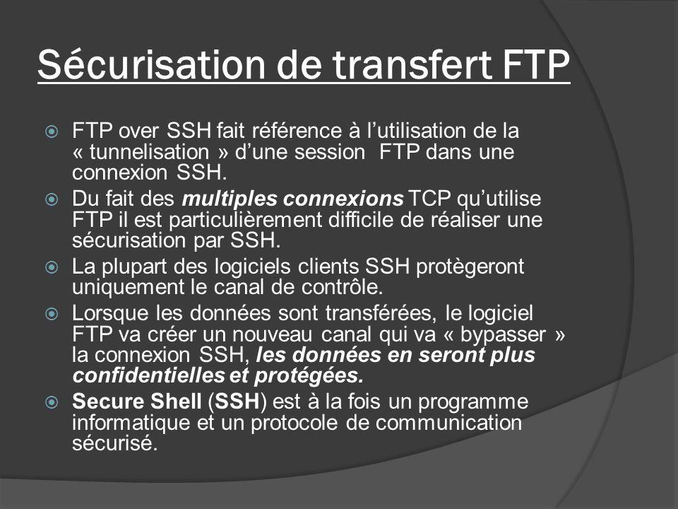 Sécurisation de transfert FTP