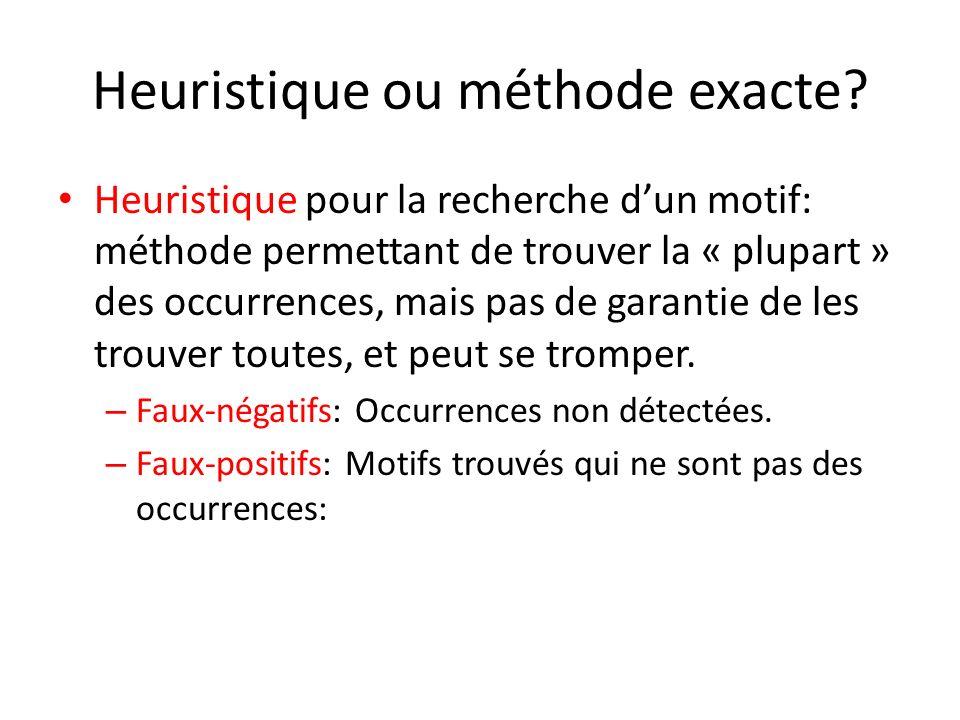 Heuristique ou méthode exacte