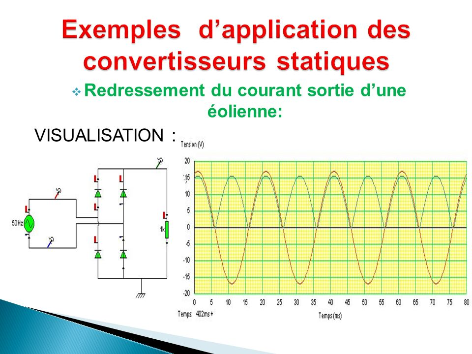 Exemples d'application des convertisseurs statiques