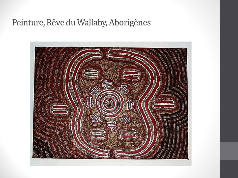 Peinture, Rêve du Wallaby, Aborigènes
