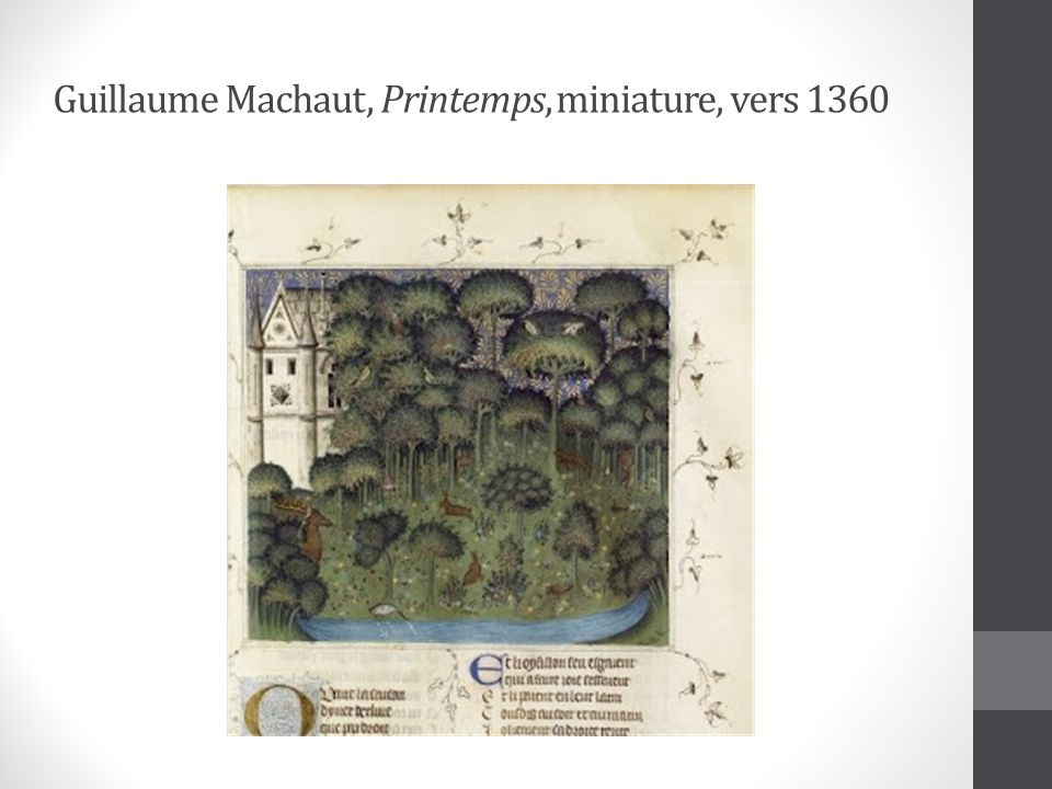 Guillaume Machaut, Printemps, miniature, vers 1360