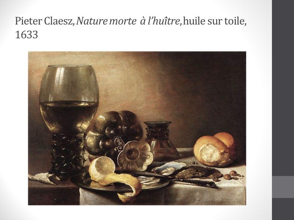 Pieter Claesz, Nature morte à l'huître, huile sur toile, 1633