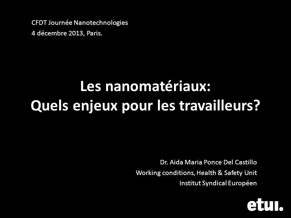 Les nanomatériaux: Quels enjeux pour les travailleurs