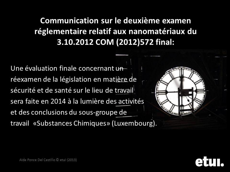 Communication sur le deuxième examen réglementaire relatif aux nanomatériaux du 3.10.2012 COM (2012)572 final: