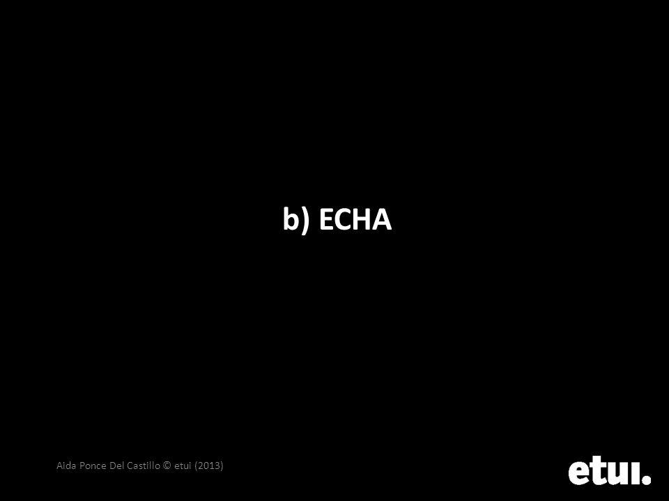 b) ECHA Aida Ponce Del Castillo © etui (2013)