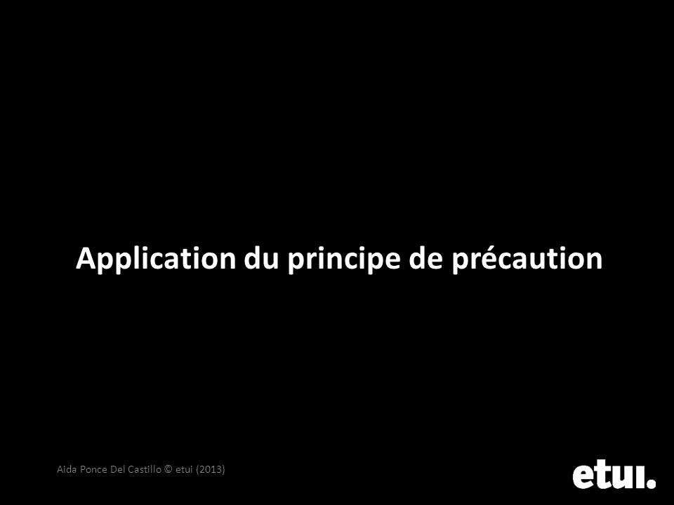Application du principe de précaution